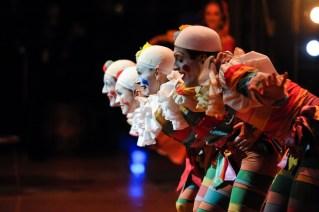 Die Clowns machten vor allem bei den Kindern im Publikum gute Laune: Fabio Adorisio, Katarzyna Kozielska, Paula Rezende, Roger Cuadrado