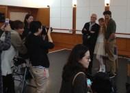 Nach dem Pressetermin im Ballettaal: Reid Anderson, Alicia Amatriain und Constantine Allen