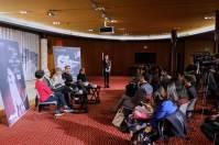 Pressekonferenz im Theater mit der Direktorin des National Theatre Sonia Zhao, Reid Anderson, Alicia Amatriain und Friedemann Vogel, ©Wang Xiaojing/NCPA