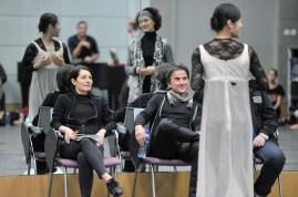 Probe im Ballettsaal mit Hyo-Jung Kang (Julia) und Sonia Santiago (Amme) und den Ballettmeistern: Yseult Lendvai, Tamas Detrich, Thierry Michel