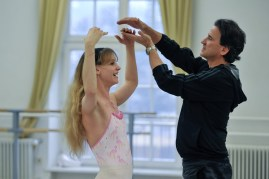 Alicia Amatriain mit unserem Stellvertretenden Ballettintendanten (&Ballettmeister!) tamas Detrich