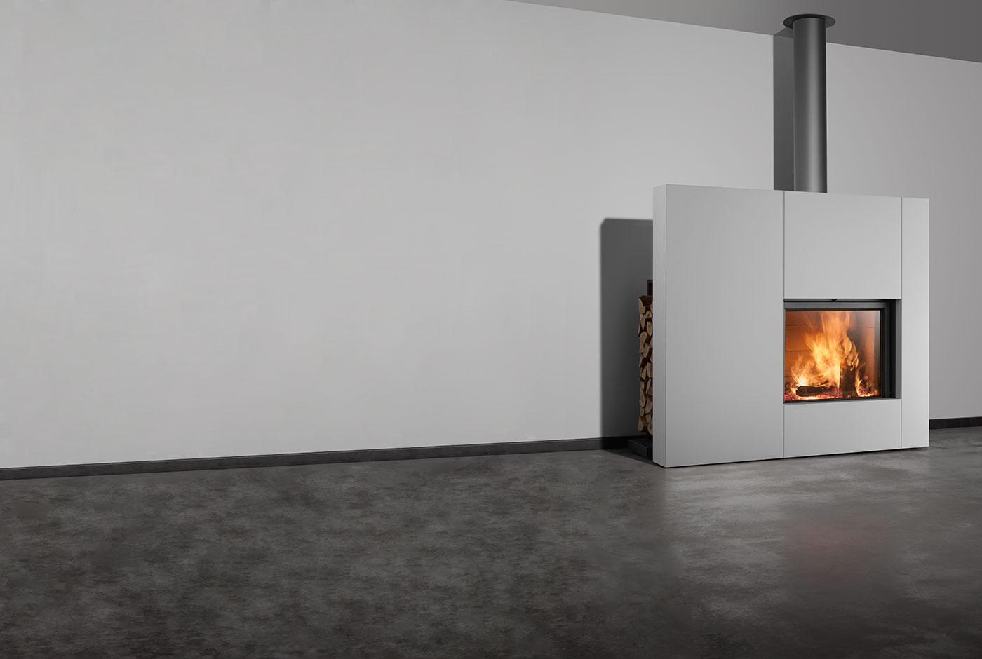 insert chemin e pellets avec reserve br leur granules. Black Bedroom Furniture Sets. Home Design Ideas