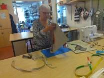 Birgitta in action.