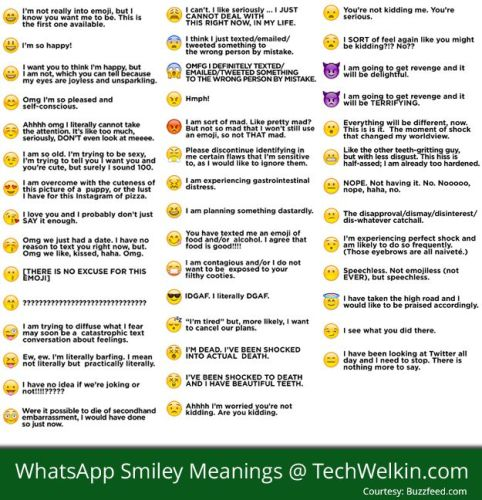 whatsapp emoticon meanings