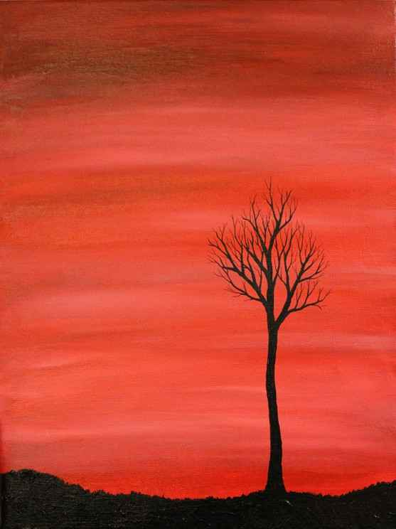 Winter Tree Silhouette Art Projects | Rhythms of Play