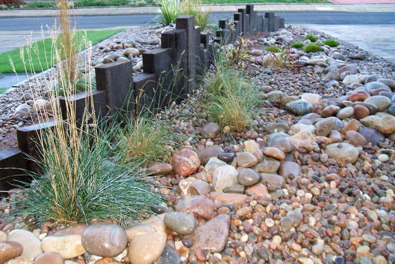 Low Maintenance Rock Garden Landscape Design