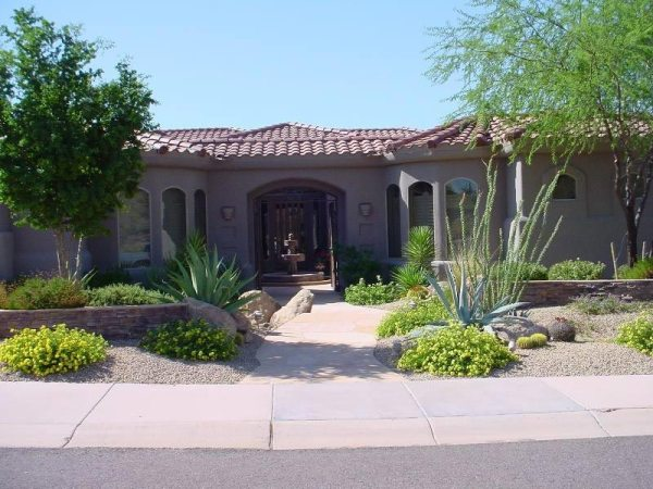 desert landscaping create