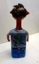 """""""Głazik"""" - materiał z recyklingu, wysokość 35 cm,cena 105 zł"""