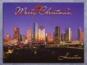 Merry Christmas Houston Christmas Card In Christmas Cards