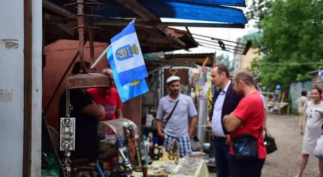 Міський голова Івано-Франківська домовлявся на ринку з підприємцями (фото)