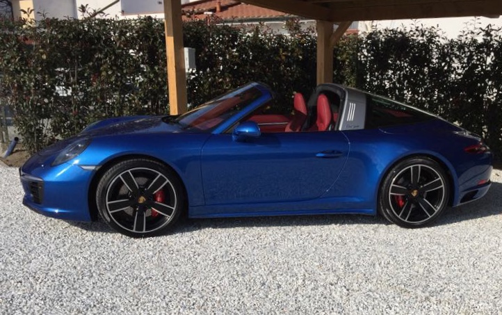 luxury car reantals europe porsche targa
