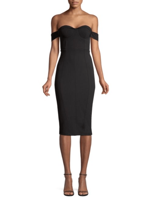 Misha Collection Chloe Off-The-Shoulder Sheath Dress