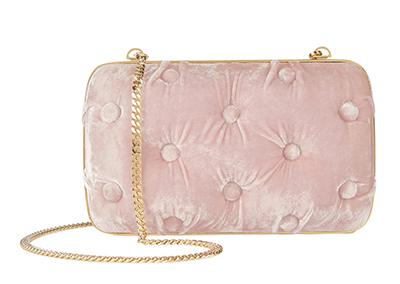 Bendetta Bruzziches Carmen Tufted Pink Velvet Clutch