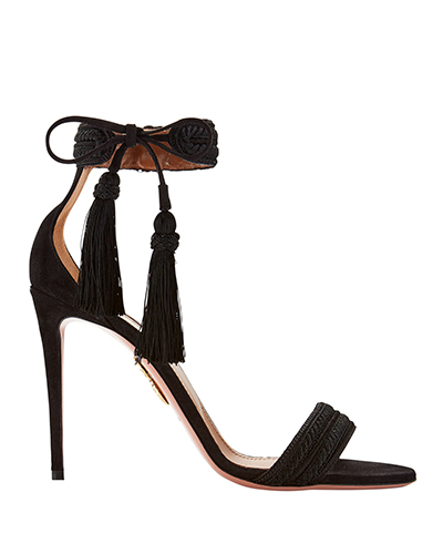 Aquazzura Shanty Tassel High Sandals