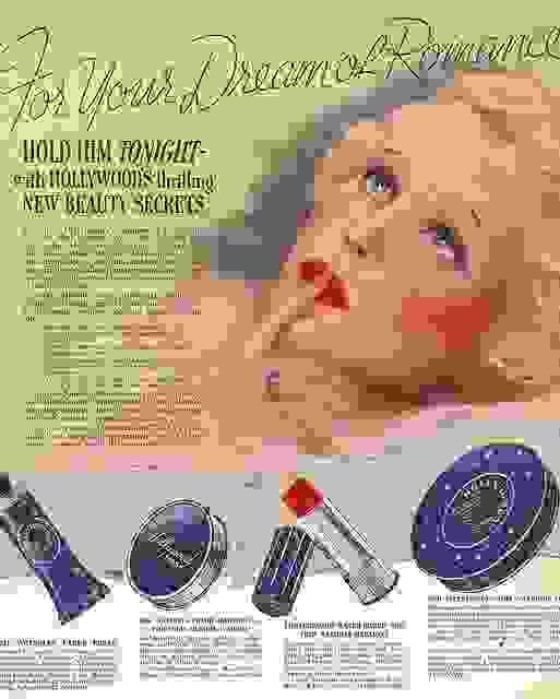 Tấm quaảng cáo mỹ phẩm cuối những năm 20