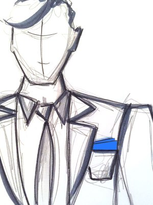 Einstecktuch tragen