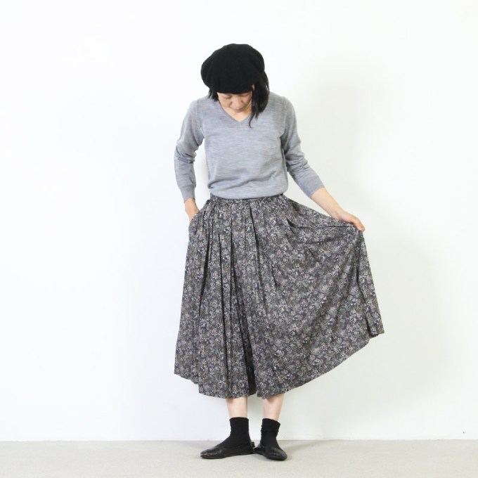 YAECA (ヤエカ) WRITE BIG TUCK CULOTTE / ライトビッグタックキュロット