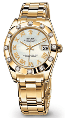 Rolex Datejust Special Edition Yellow Gold Watch