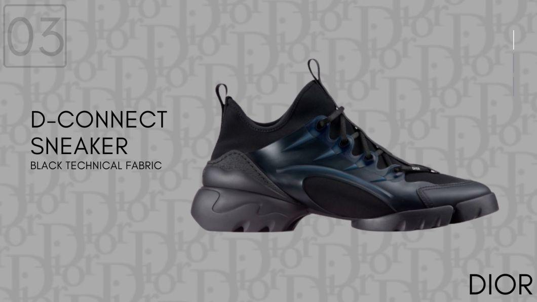 D-CONNECT Black Technical Fabric-Dior Sneakers-รองเท้าดิออร์