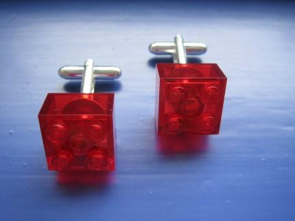 Etsy Lego cufflinks