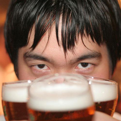 Guy met Bier