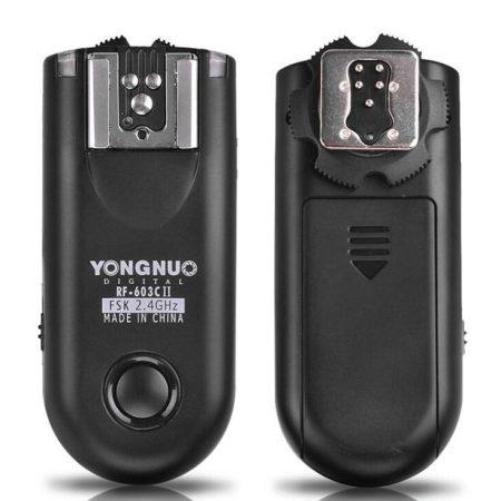 Yongnuo RF-603II wireleass radio flash triggers. Source: Yongnuo