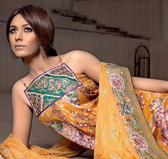 Embroidered Chiffon and Fleur De Chiffon Suits by Gul Ahmed (1)