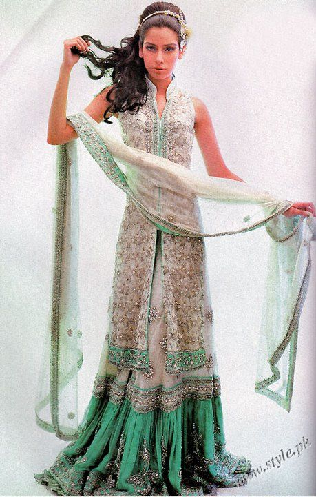 Nauratan bridal Lehanga Designs 2011 by Hina Khan