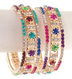 Fancy bangles in multi colors