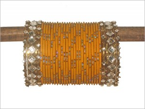 Bangles in yellow and golden