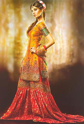 Emboridered Banarsi Gharara For Brides 006