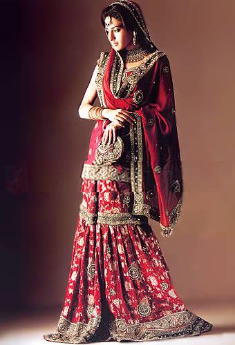 Emboridered Banarsi Gharara For Brides 007