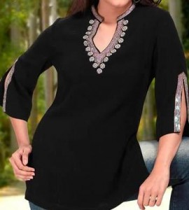 Black kurti with jeans