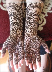computerize design of mehndi for hands