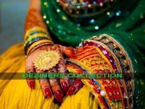 mehndi dresses for girls by Deziners collection (4)