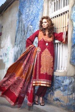 Firdous Linen Collection for Winter 2012 by Firdous Fashion e