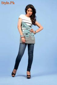 Latest Yellow Casual wear Tops Collection For Women 2012-009
