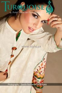 Turquoise Eid Collection 2012 for Ladies 002