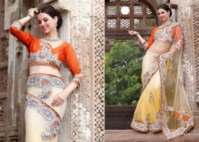 Latest Bridal Saree Trends 2012 For Women 002