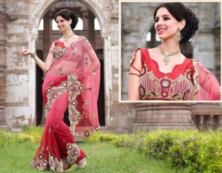Latest Bridal Saree Trends 2012 For Women 007