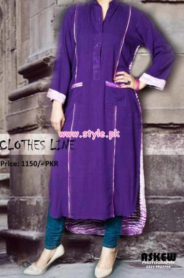 Latest Clothes Line Winter Dresses 2012 For Women 010
