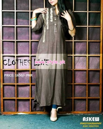 Latest Clothes Line Winter Dresses 2012 For Women 011