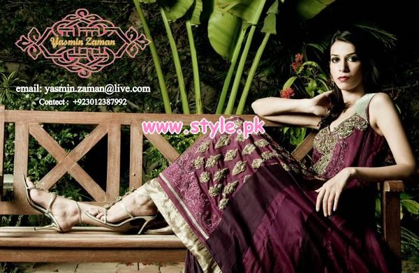 Latest Yasmin Zaman Winter Party Dresses 2012-13 009