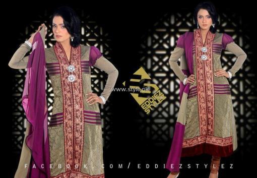 Eddiez Stylez Party Wear Collection 2013 for Women 001