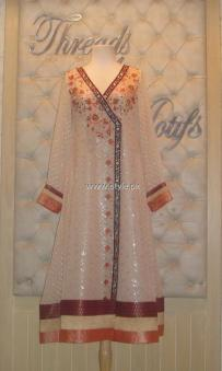Threads and Motifs New Embroidered Dresses 2013 for Ladies 008
