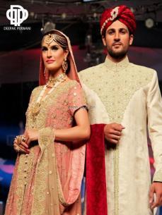Deepak Perwani Bridal Collection at BCW 2013 012