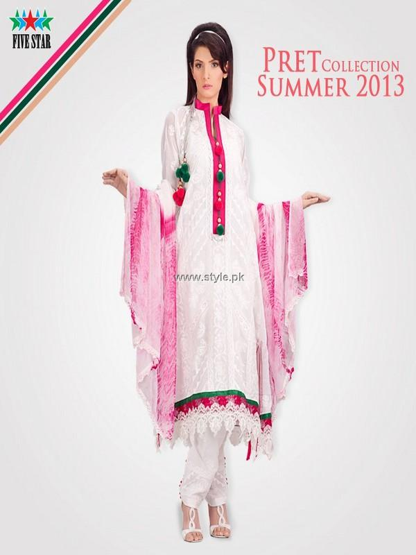 Five Star Textiles Pret Collection 2013 for Summer