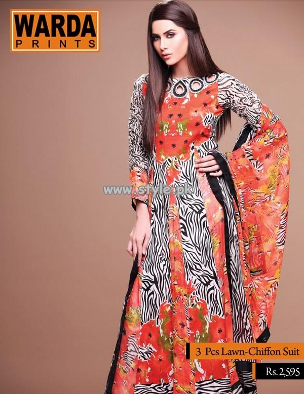 Warda Designer Collection Lawn Dresses 2013 Volume 2 001