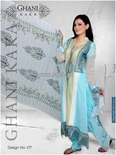 Ghani Textile New Dresses For Summer 2013 007