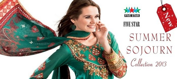 Five Star Sojourn Lawn Collection 2013 For Women 008